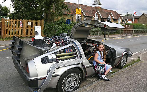 School Delorean Car